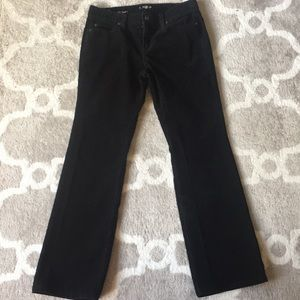 LOFT Curvy Boot Black Corduroy Pants